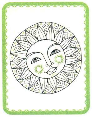 太阳简笔画法步骤05