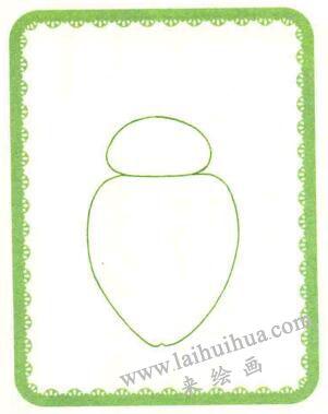 甲壳虫简笔画法步骤01