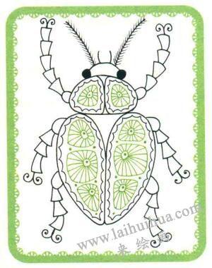 甲壳虫简笔画法步骤05