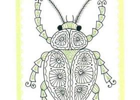 甲壳虫简笔画法步骤