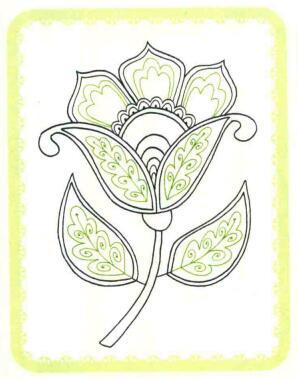 花朵简笔画法步骤04
