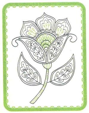 花朵简笔画法步骤05