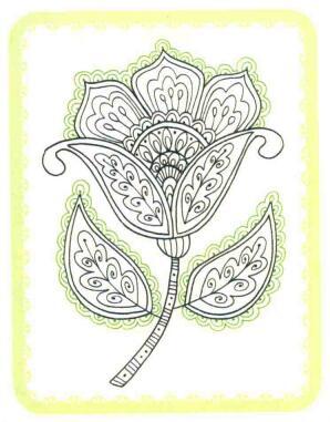 花朵简笔画法步骤06