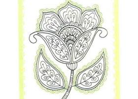 花朵简笔画法步骤