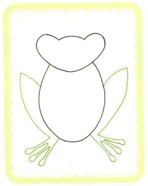青蛙简笔画法步骤02