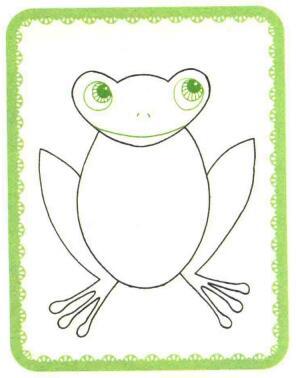 青蛙简笔画法步骤03