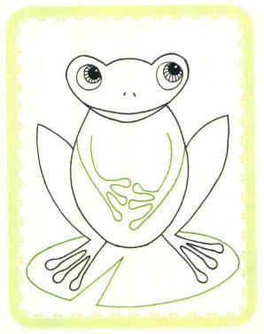 青蛙简笔画法步骤04
