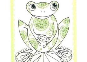 青蛙简笔画法步骤(二)