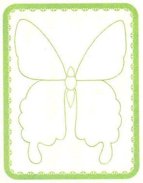 蝴蝶简笔画法步骤01