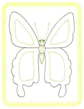 蝴蝶简笔画法步骤02