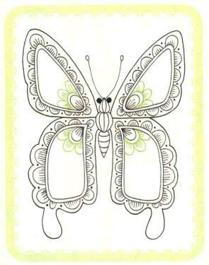 蝴蝶简笔画法步骤04