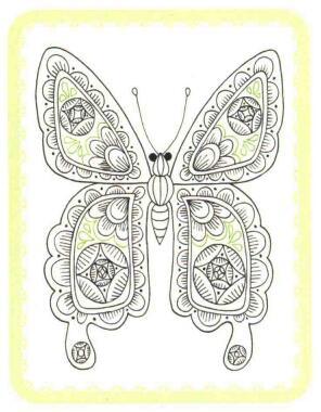 蝴蝶简笔画法步骤06