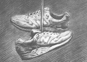 鞋类素描实训案例二