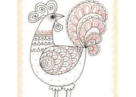 公鸡简笔画法步骤(二)