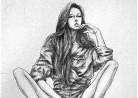 时装画素描实训案例六