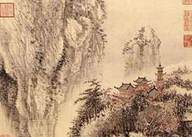 王翚《溪山红树图》