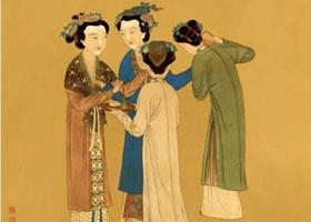 唐寅《孟蜀宫妓图》