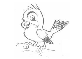 卡通鸟的几何造型图例
