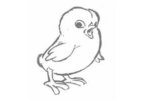 卡通鸡的几何造型图例