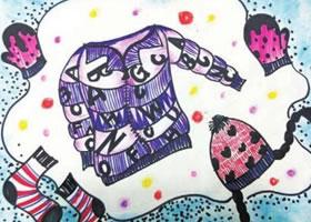 羽绒服儿童绘画步骤