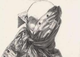 人物半身像素描中衣褶中线的讲解