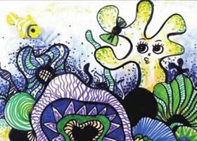 梦幻珊瑚海儿童绘画步骤