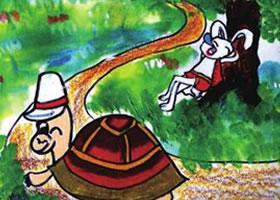 龟兔赛跑儿童绘画步骤