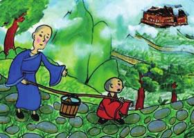 《三个和尚》儿童绘画步骤