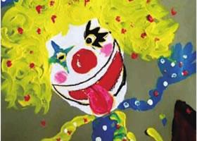 调皮的小丑儿童绘画步骤