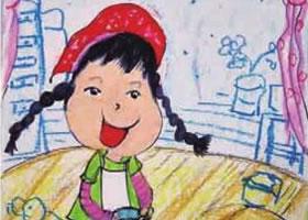 我爱劳动儿童绘画步骤