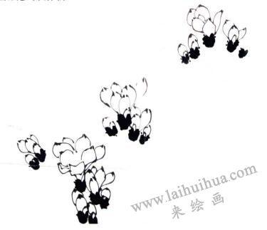 玉兰花的画法步骤01