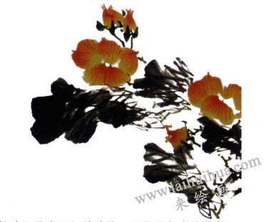 芙蓉花的画法步骤03