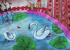 鹅鹅鹅儿童绘画步骤