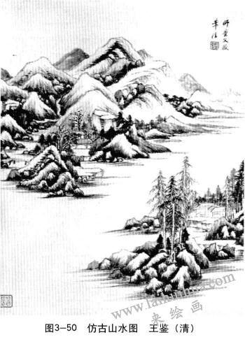 间接三度空间:仿古山水图