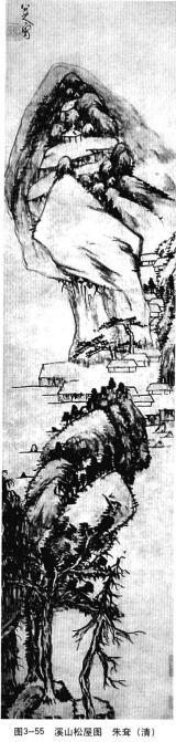 溪山松屋图