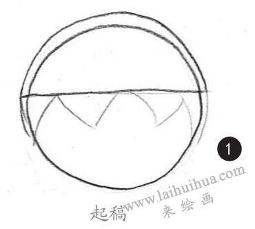 男生头发素描画法步骤01