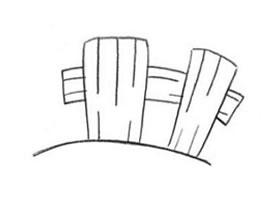 栅栏的创意素描画法