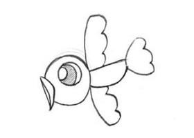 小鸟创意素描的画法
