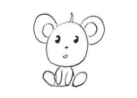 小老鼠的创意素描画法