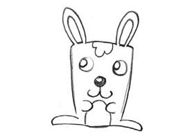 兔子的创意素描画法
