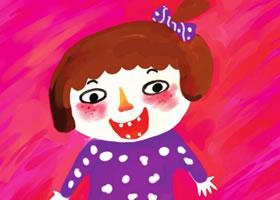 小女孩自画像水粉画绘画步骤