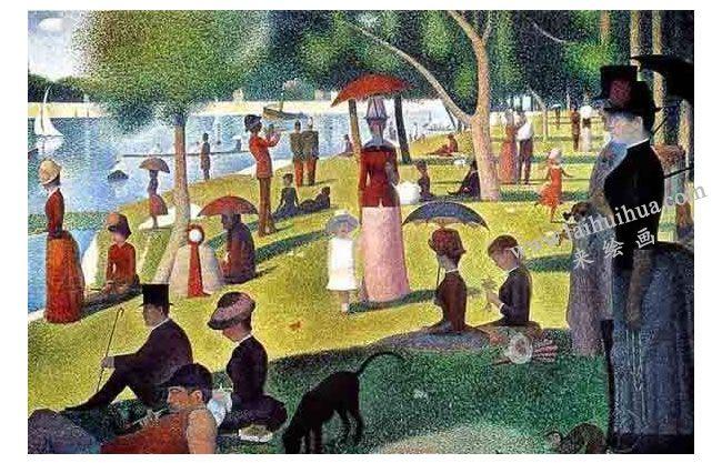 世界名画《大碗岛星期日的下午》