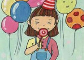 快乐的小女孩水粉画画法