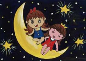 月亮公主水粉画作画步骤