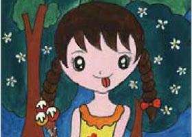 吃冰激凌的女孩水粉画作画步骤