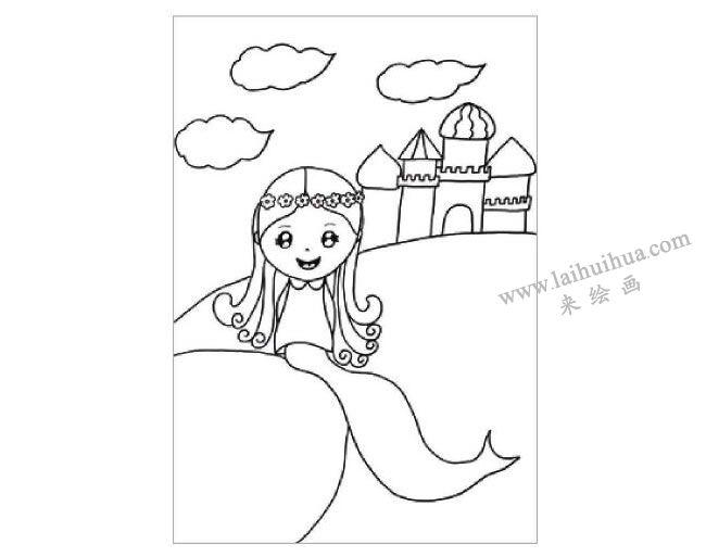 海的女儿美人鱼水粉画作画步骤01