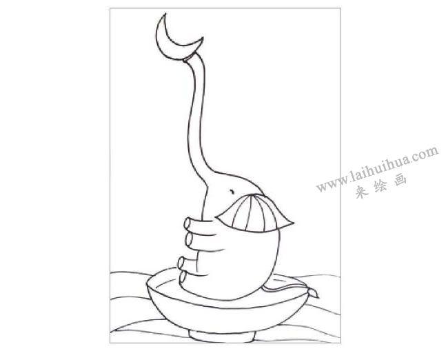 俏皮的大象水粉画作画步骤01