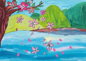 飘落的花瓣水粉画作画步骤