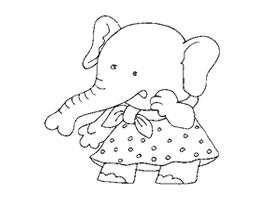 小象卡通画造型