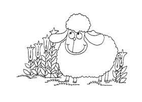 小羊卡通画造型